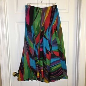 Soft Surrounding Multi Colored Circle Maxi Skirt